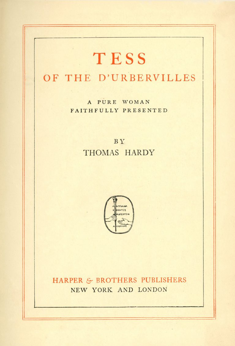a literary analysis of tess of the durbervilles In this lesson, we will look at critical analysis of the major character of the novel.