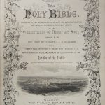 The Hole Bible. According to the authorized version, with the marginal readings and parallel references, printed at Length. (Cover)