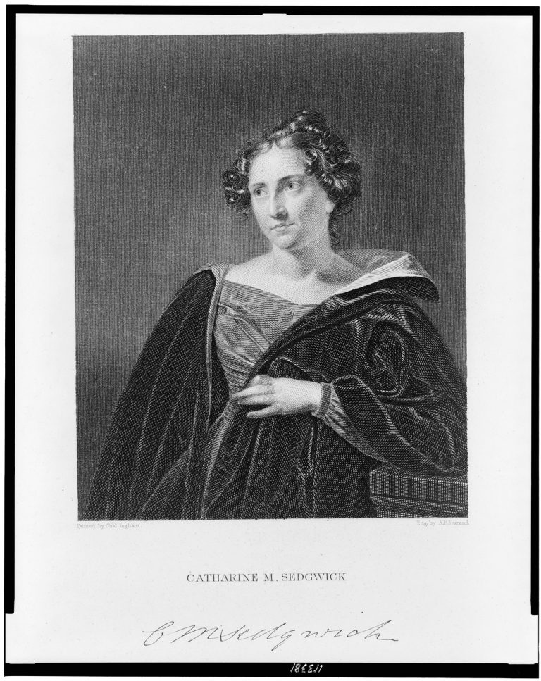 Author Catharine M. Sedgwick (1832).
