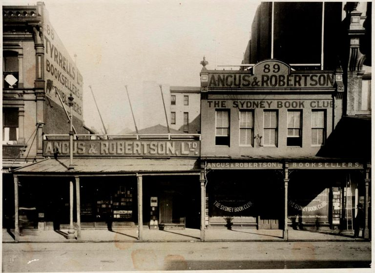 The Angus & Robertson bookshop in Sydney (1916).