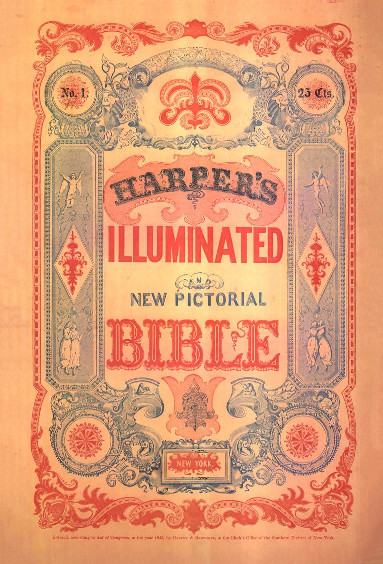 An edition of Harper's Illuminated and New Pictorial Bible from 1846.