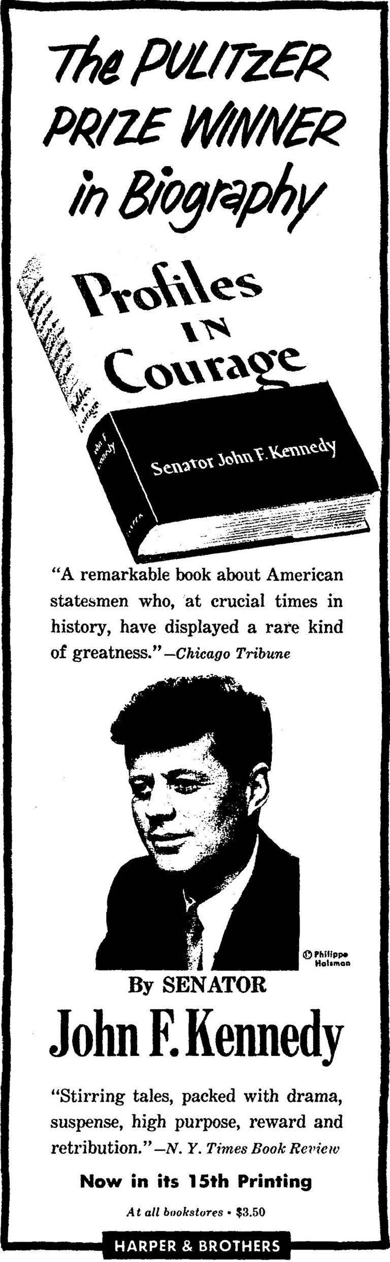 New York Times advertisement for Profiles in Courage from May 19, 1957.