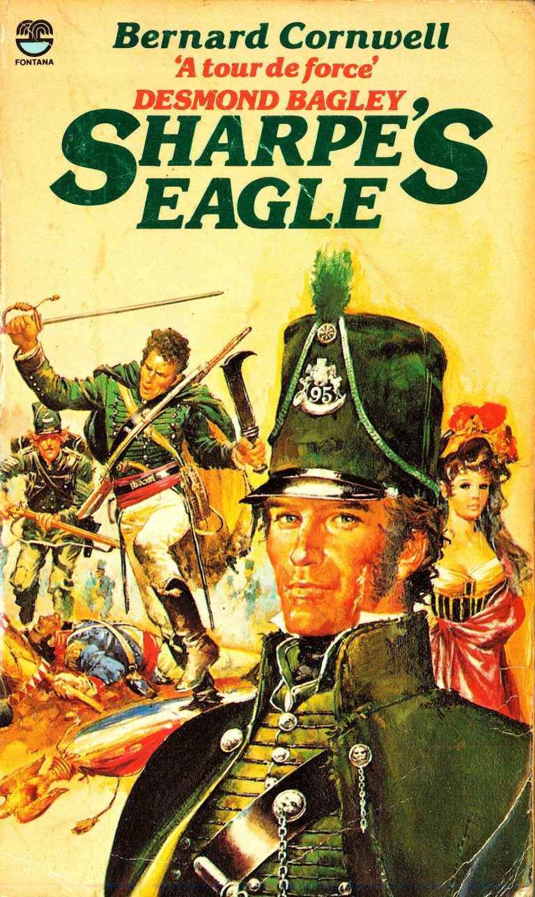 First edition paperback of Sharpe's Eagle by Bernard Cornwell (1981).