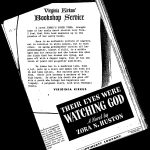 "Photocopy of a newspaper review of ""Their eyes were watching God"""