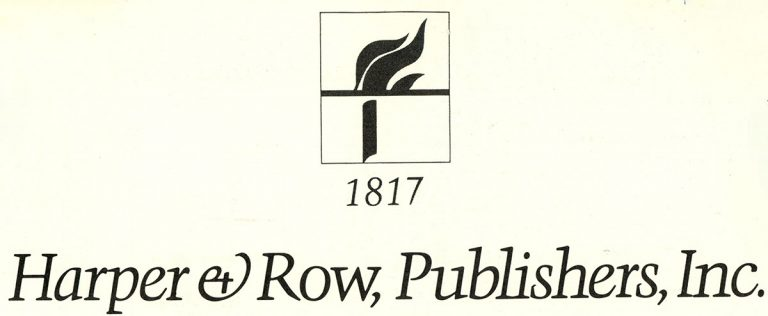 Harper & Row, Publishers, Inc 1817 (Logo)