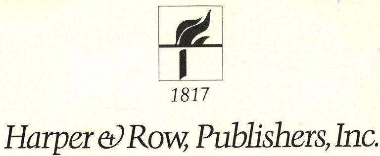 Harper & Row, Publishers, Inc 1817 (Logo)