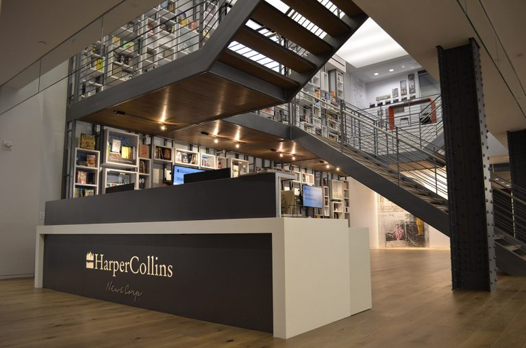 The HarperCollins Global headquarters Lobby at 195 Broadway in lower Manhattan