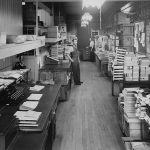 Employees in the Collins Canada mailroom, circa 1940s
