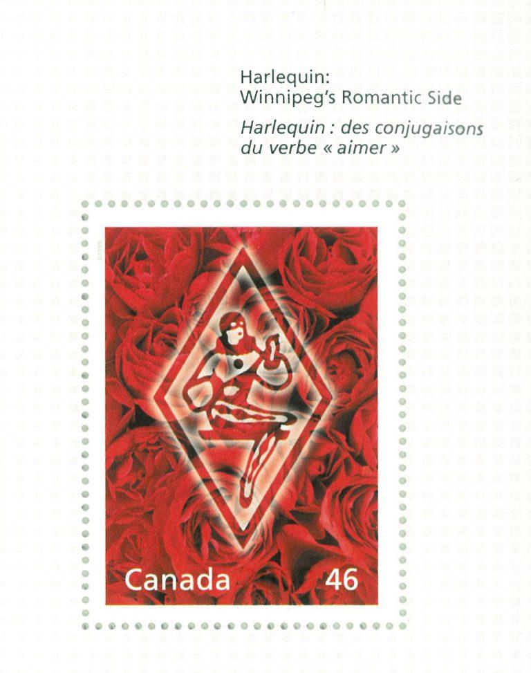 Canada Post stamp honoring Harlequin