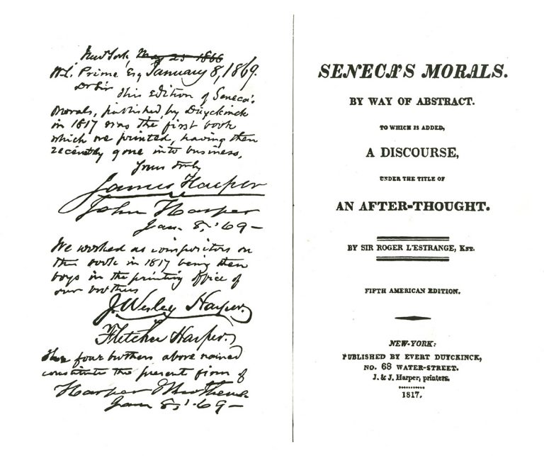 Page from Senecas Morals
