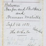 The original agreement between Herman Melville and Harper & Brothers for Moby-Dick, dated September 12, 1851.