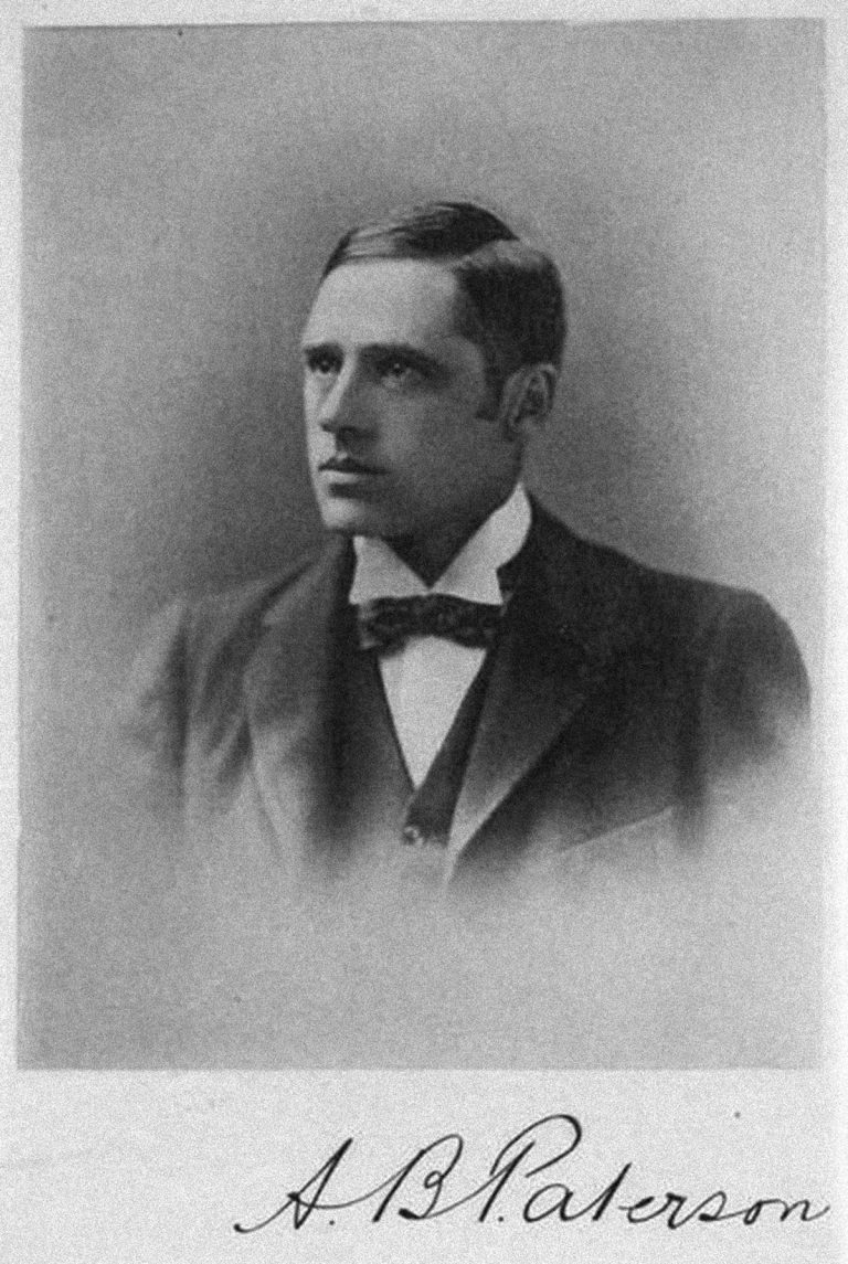 "Australian author Banjo Paterson, best known for writing ""The Man from Snowy River."""