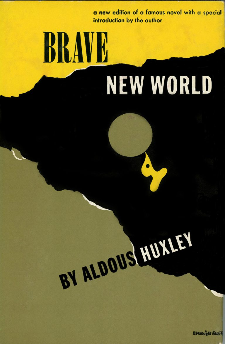 A 1946 edition of Brave New World (1934), which features a special introduction by Aldous Huxley.