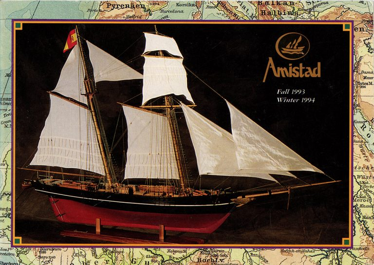 The cover of the Fall 1993/Winter 1994 Amistad catalog.