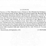 The 1859 license granted to William Collins and Company, giving it permission to print the Bible.