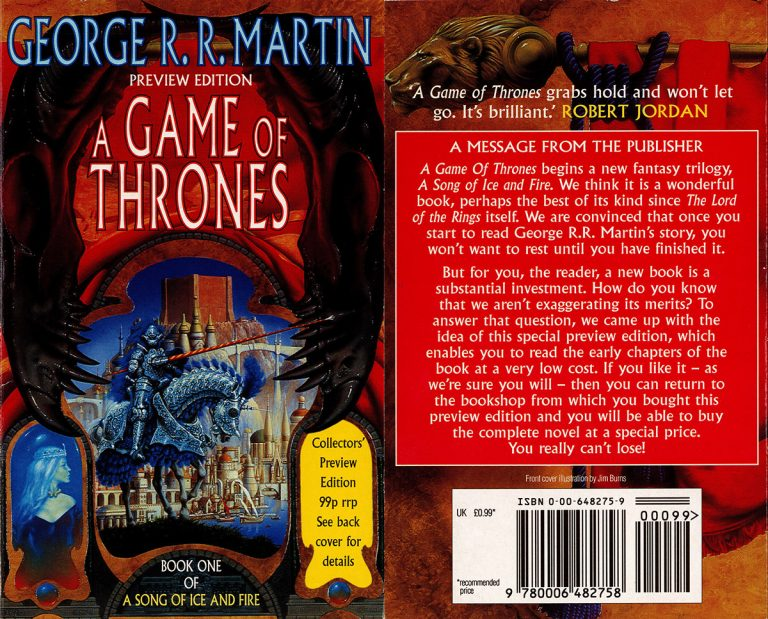 The Collectors' Preview Edition of A Game of Thrones by George R. R. Martin, Book One of A Song of Ice and Fire.