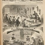 An illustrated cover of Harper's Weekly just after the outbreak of the Civil War, dated July 20, 1861.