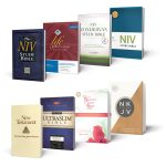 A selection of Bibles (including the NIV and NKJV) published by HarperCollins Christian Publishing.