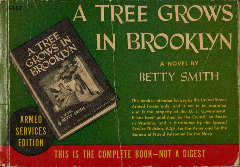 An Armed Services Edition of A Tree Grows in Brooklyn by Betty Smith (1943).