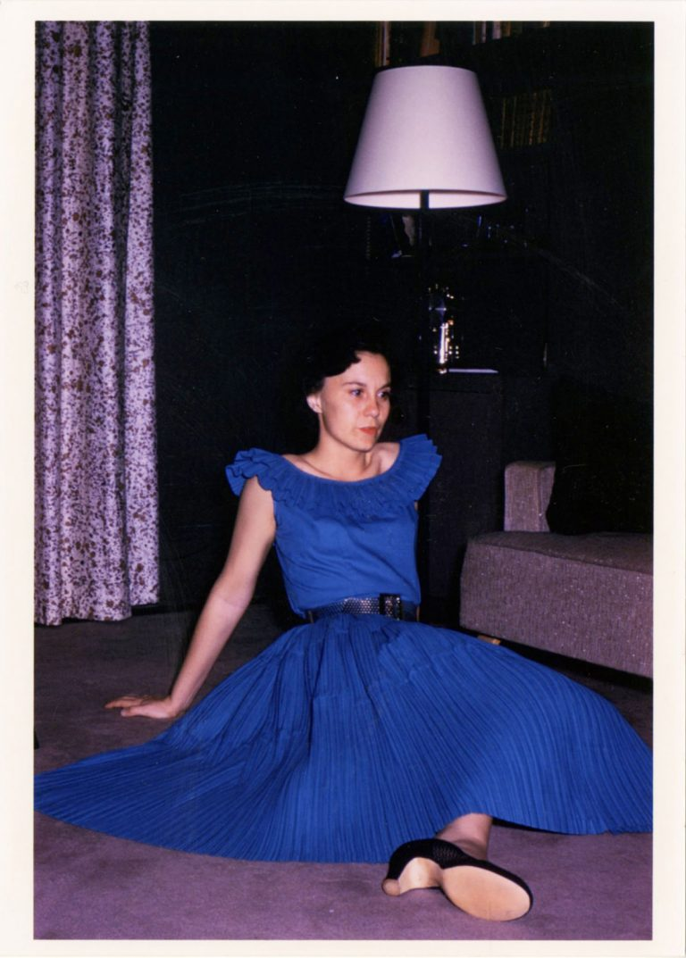 Harper Lee in blue dress