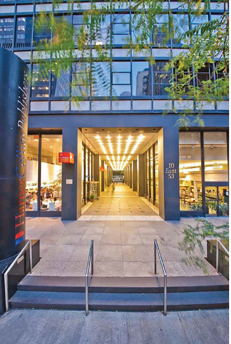 """""""Harper & Row"""" building designed by Emery Roth at 10 East 53rd Street."""