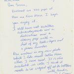 Handwritten letter from John Gray regarding his manuscript for Men Are from Mars, Women are from Venus