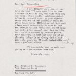 Letter to Eleanor Roosevelt regarding a new autobiographical book