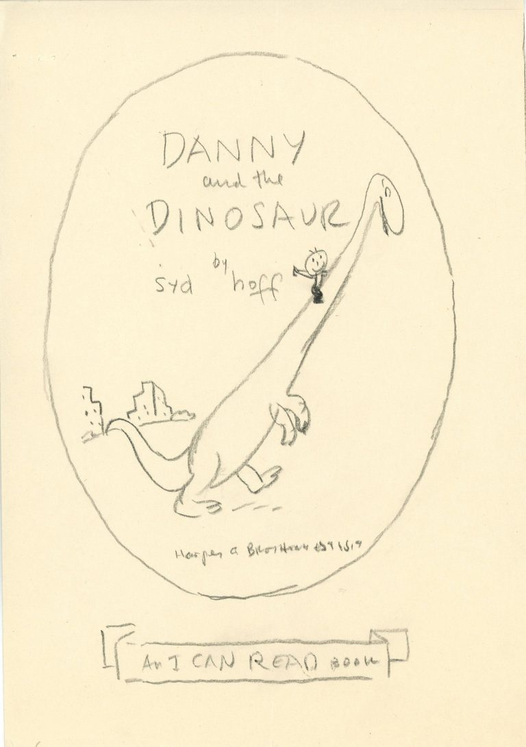 Original artwork suggested by Syd Hoff for Danny and the Dinosaur